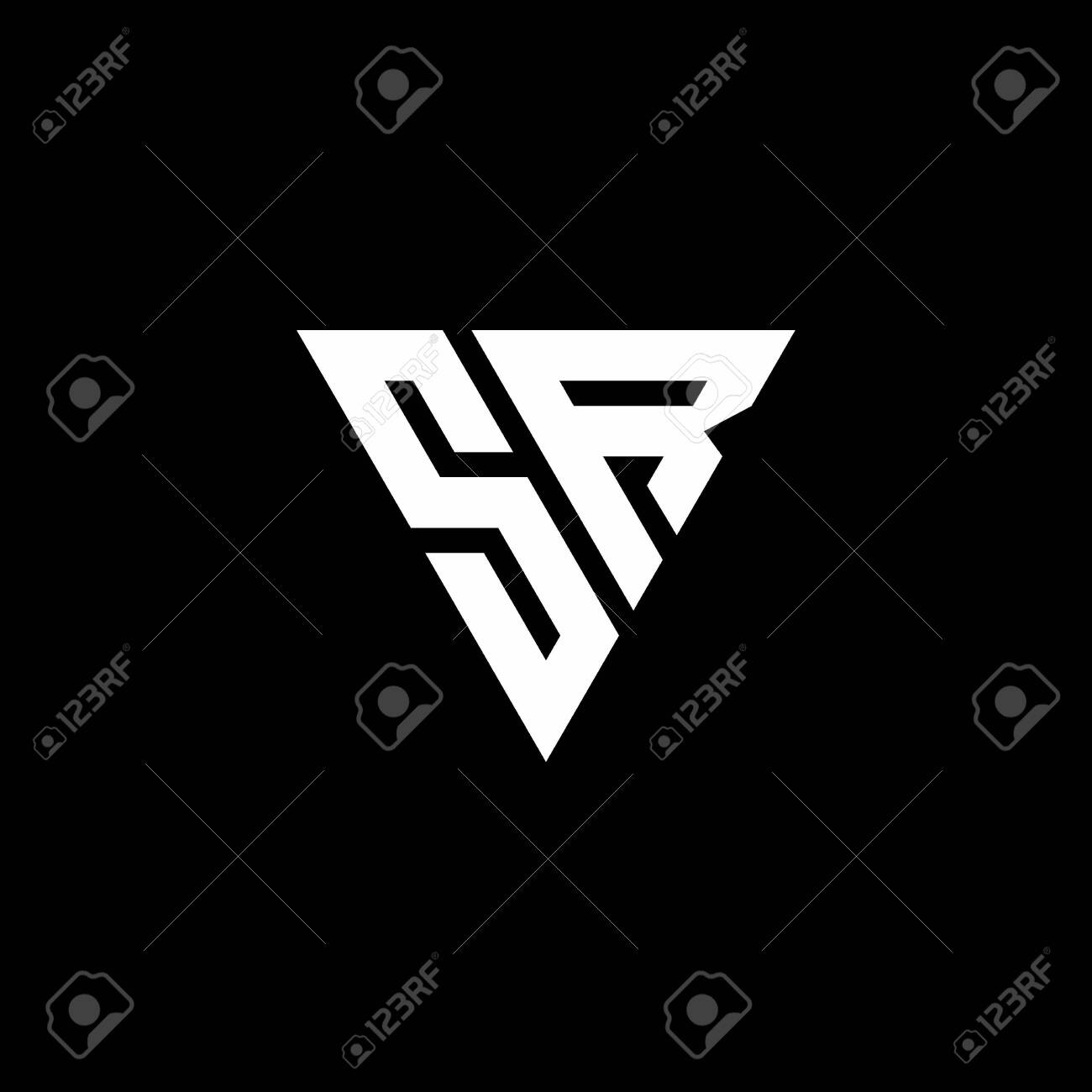 Sr Logo Letter Monogram With Triangle Shape Design Template Isolated Royalty Free Cliparts Vectors And Stock Illustration Image 143378382