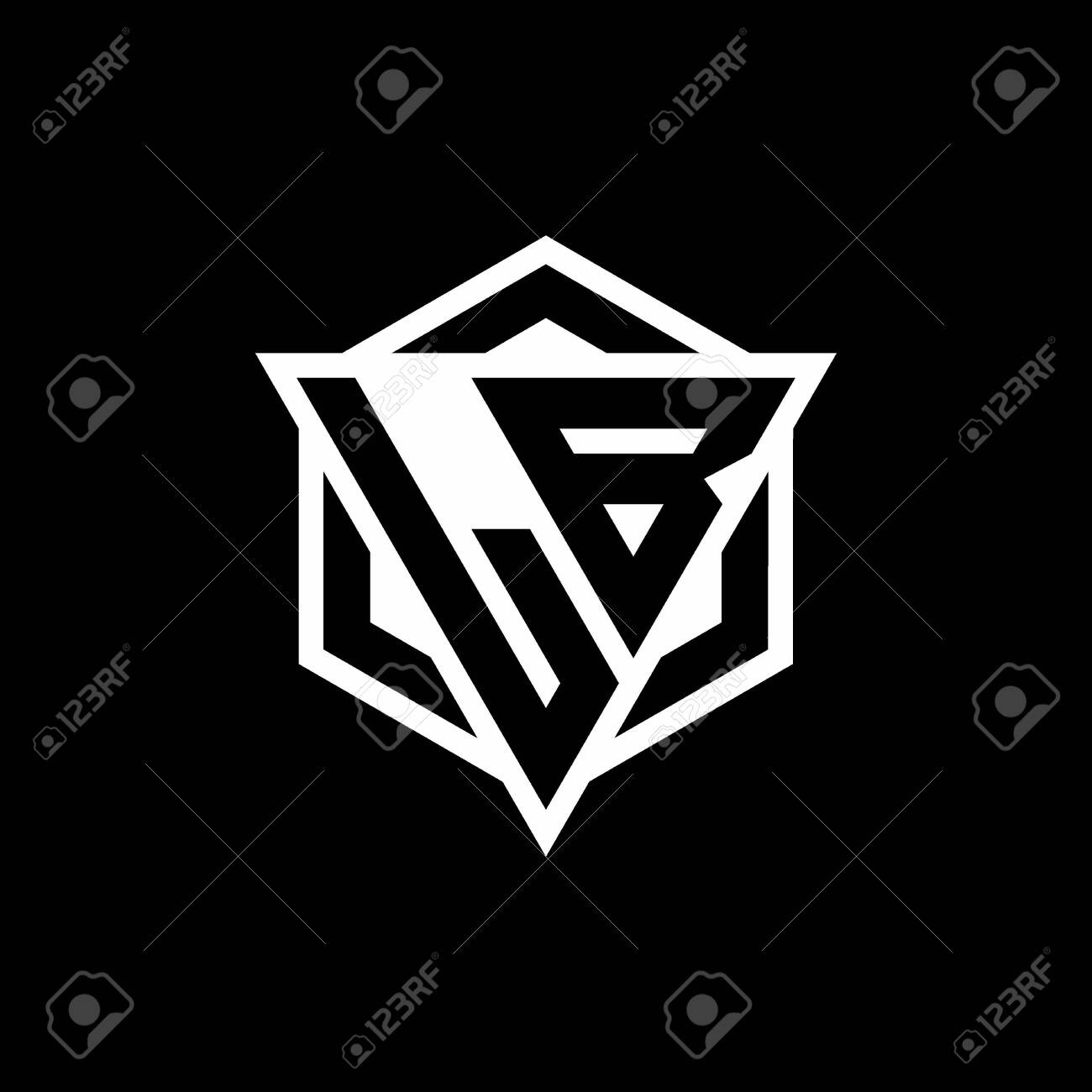 Lb Monogram With Triangle And Hexagon Shape Combination Isolated Royalty Free Cliparts Vectors And Stock Illustration Image 144016412