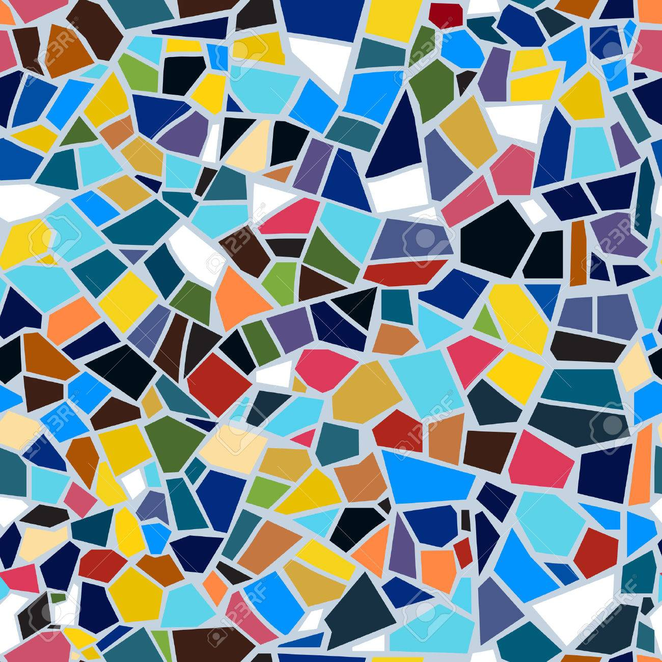 Vector Abstract Seamless Mosaic Pattern. Multi-color. Colorful ...