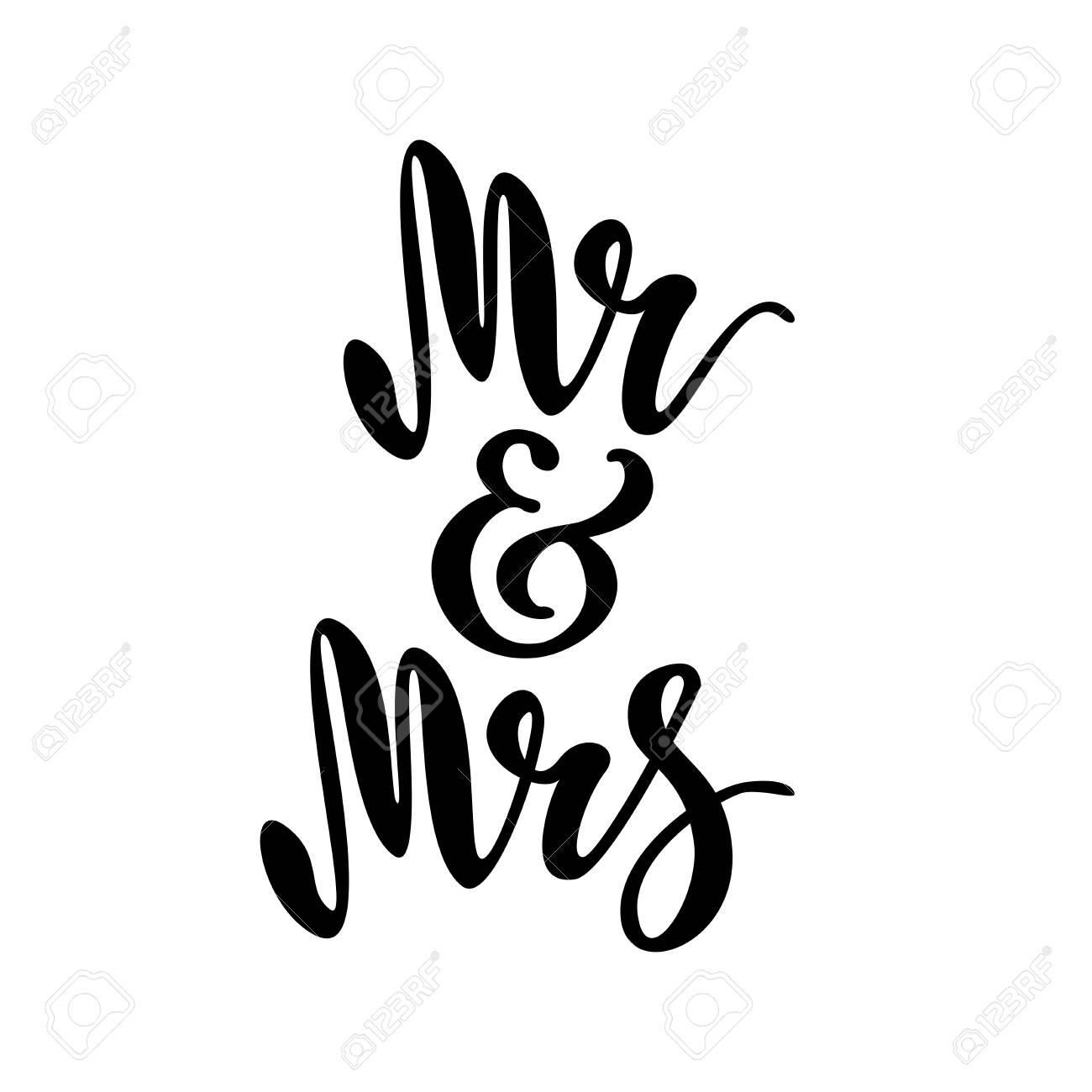 Mr and Mrs. brush pen lettering. - 88241821