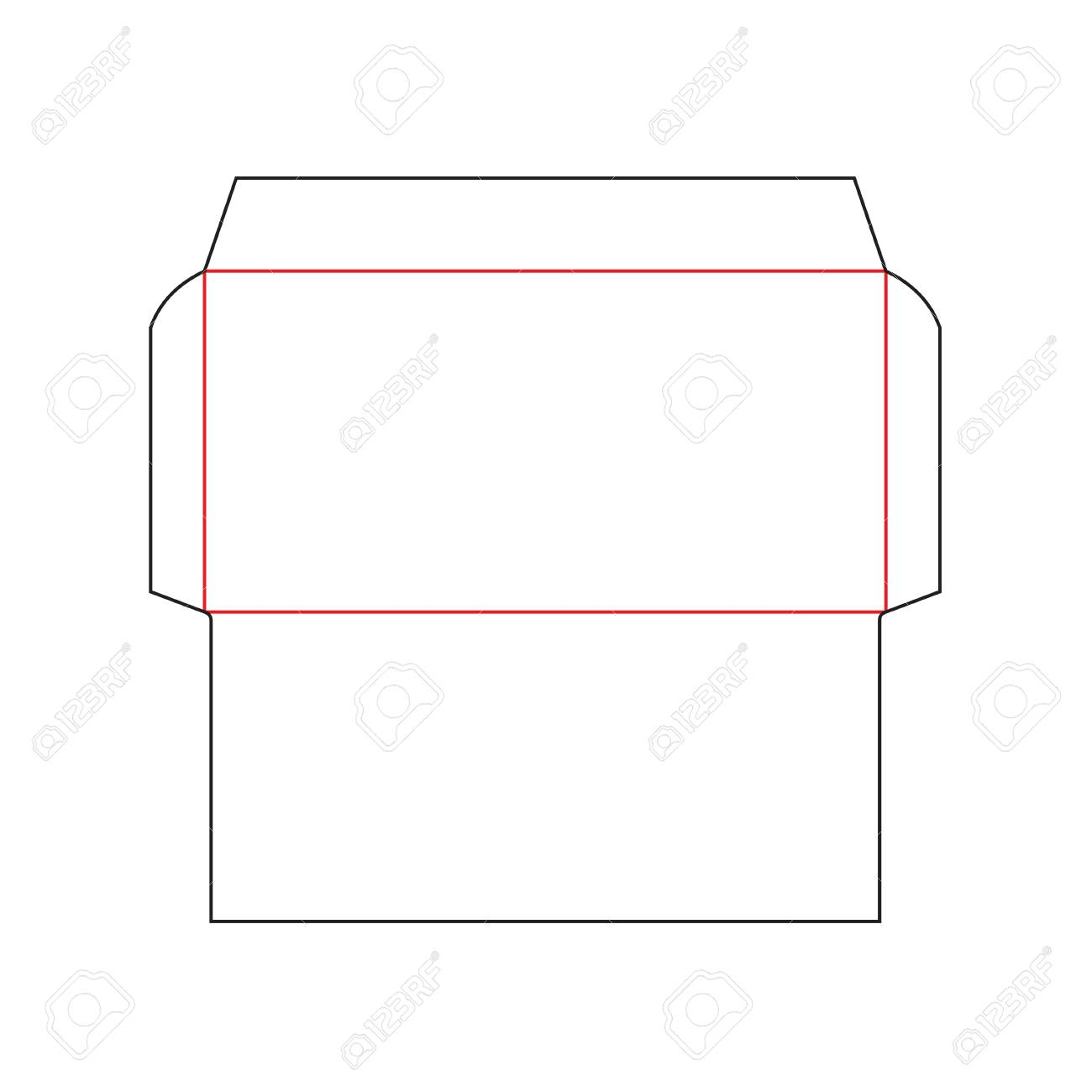 Envelope DL Size Template Royalty Free Cliparts, Vectors, And Stock ...