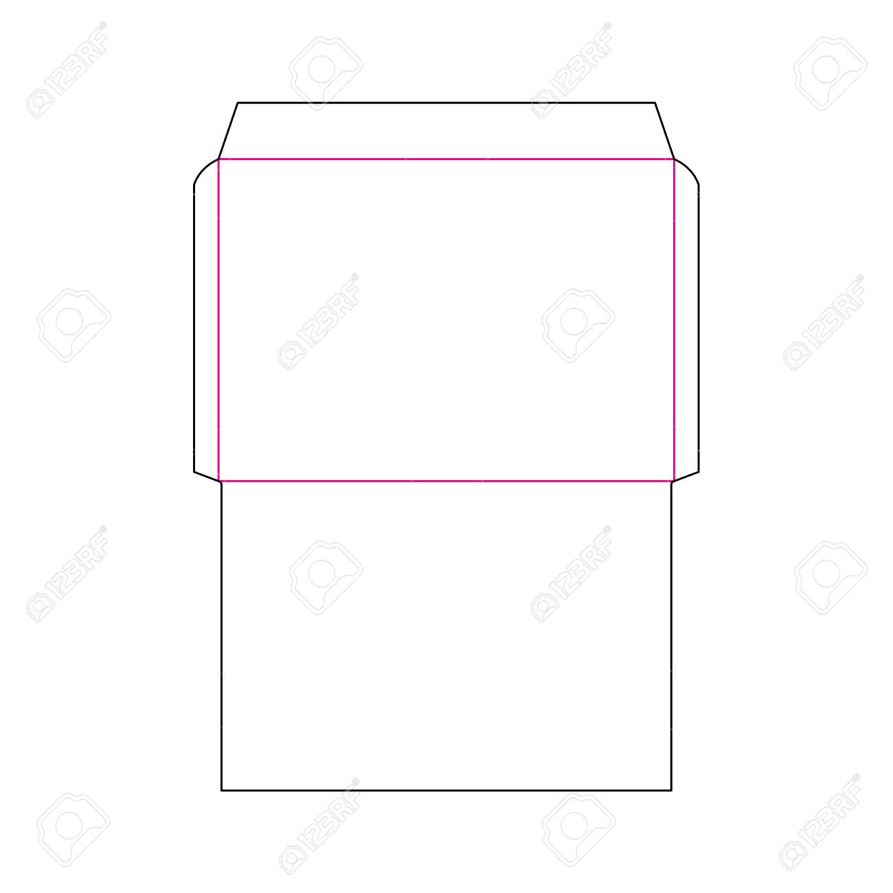 the envelope c4 size die cut template for a4 documents stamp