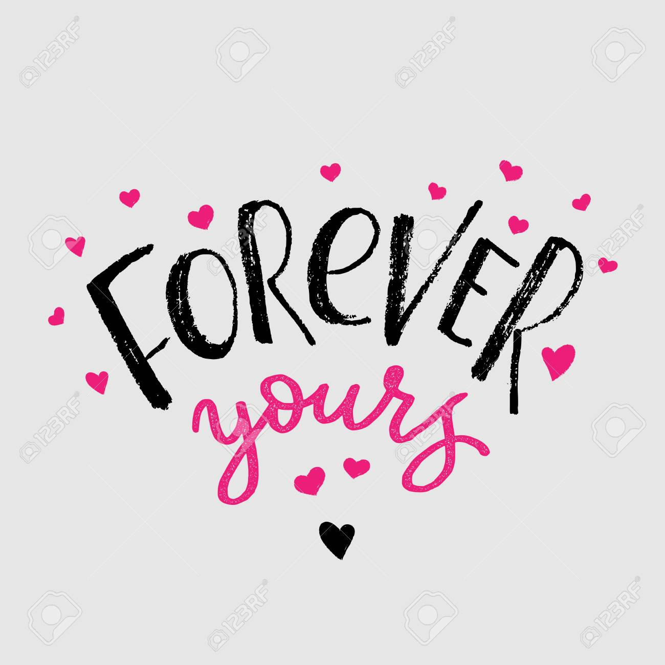 Forever Yours Cards Design Ele...
