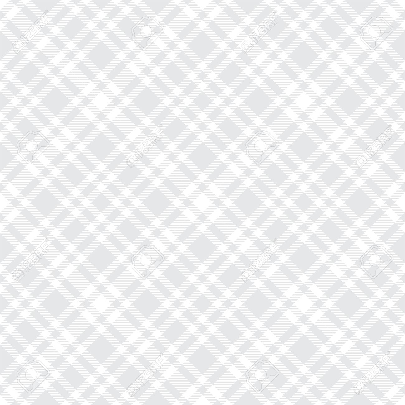Tartan light gray seamless vector pattern. Checkered plaid texture. Geometrical simple square background for fabric textile cloth, clothing, shirts shorts dress blanket, wrapping design - 109760610