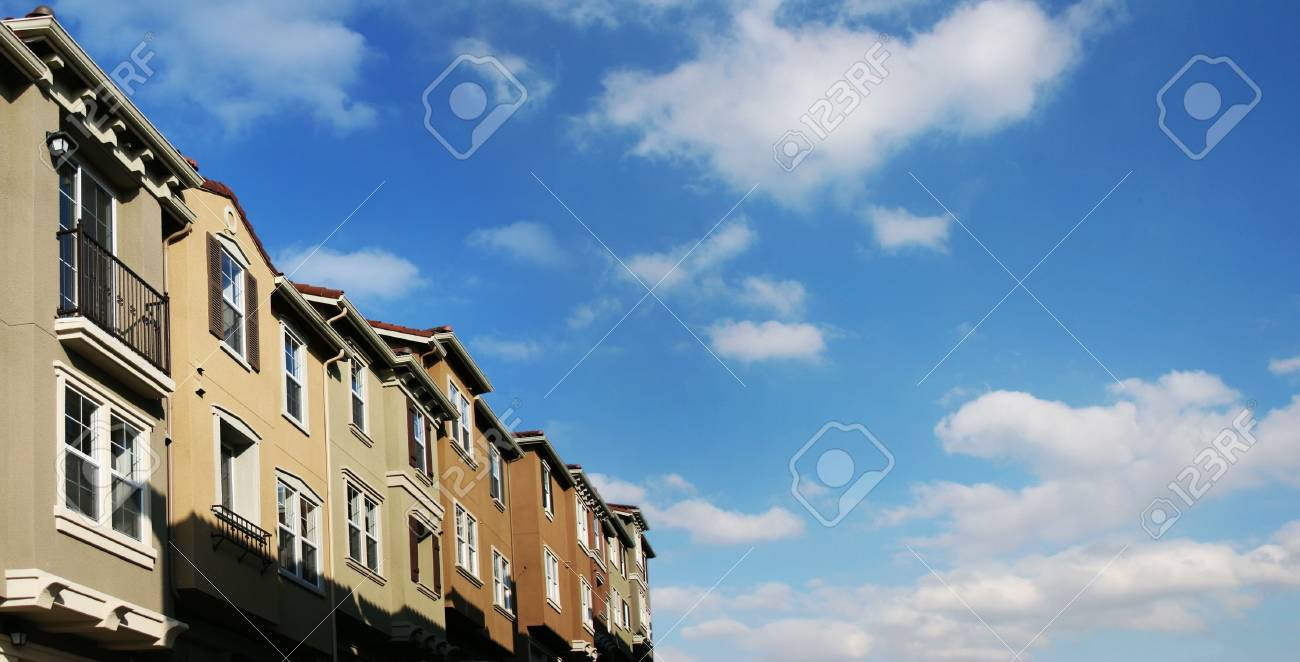 Modern houses and sky with clouds Stock Photo - 220034