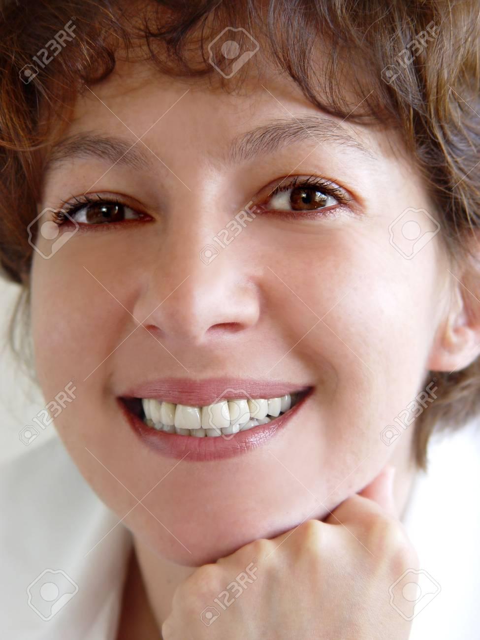 Closeup of a smiling woman Stock Photo - 347483