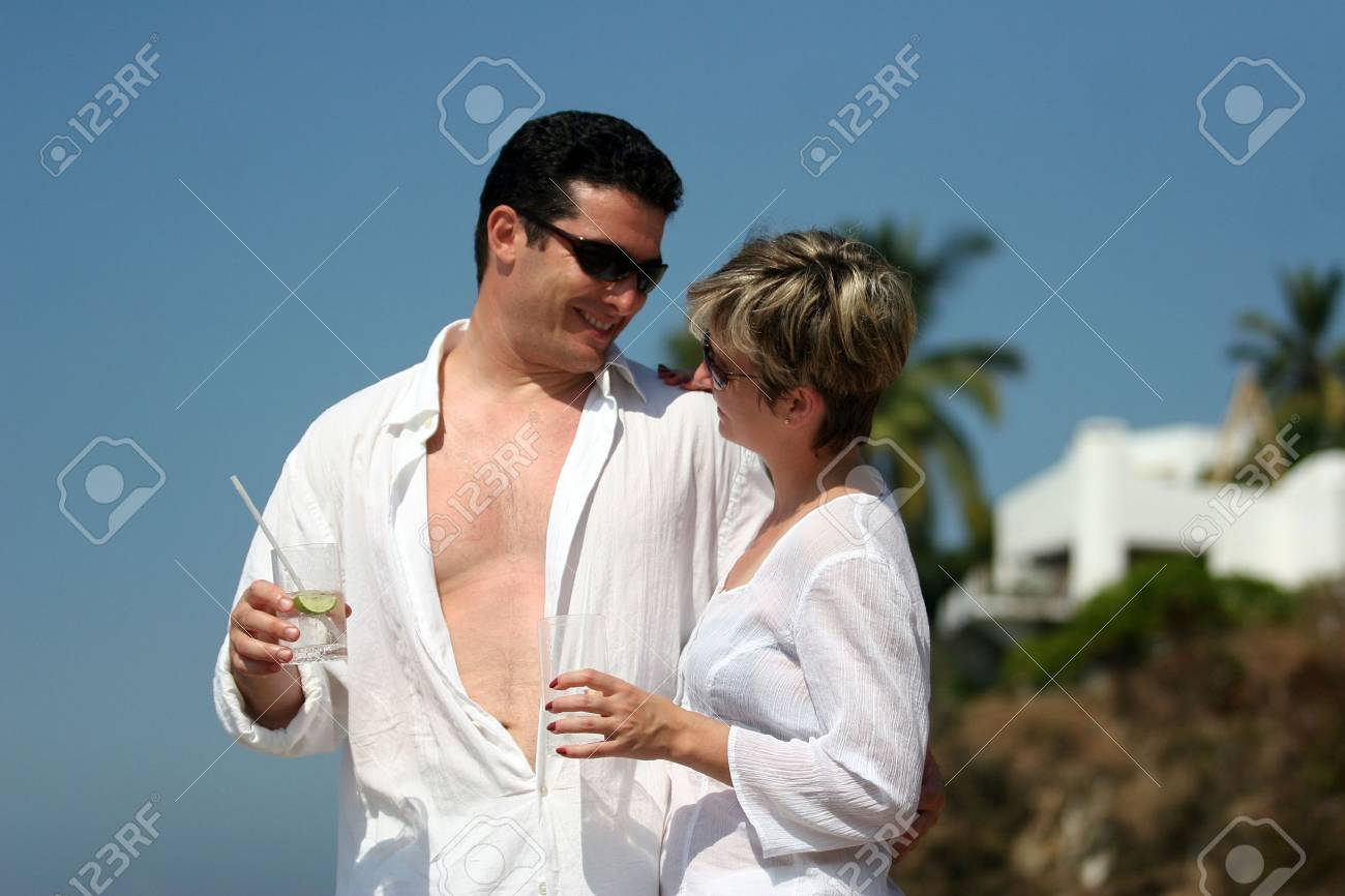 Young couple on the beach Stock Photo - 369540