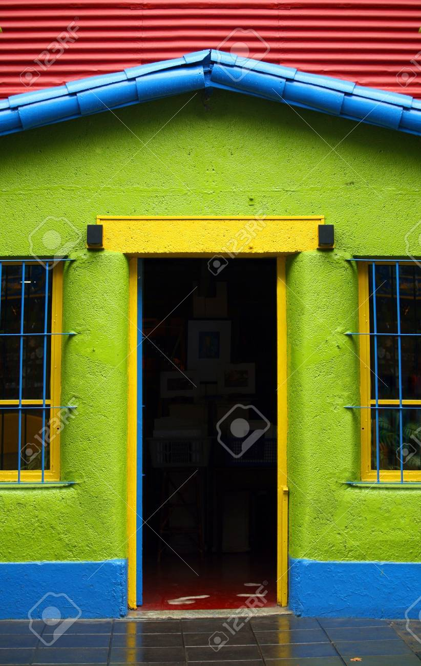 Colorful district La Boca in Buenos Aires Stock Photo - 4923393