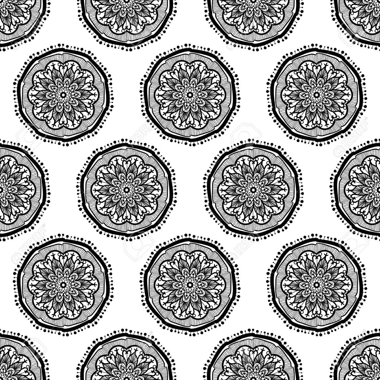 Hand drawn mandala seamless pattern arabic indian turkish and hand drawn mandala seamless pattern arabic indian turkish and ottoman culture decoration style kristyandbryce Gallery