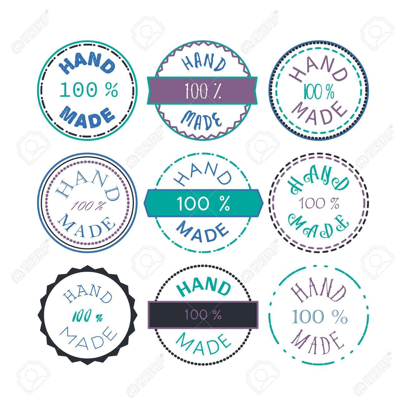 Plantilla De Tarjeta De Identificación Con 100 Símbolo Producto ...