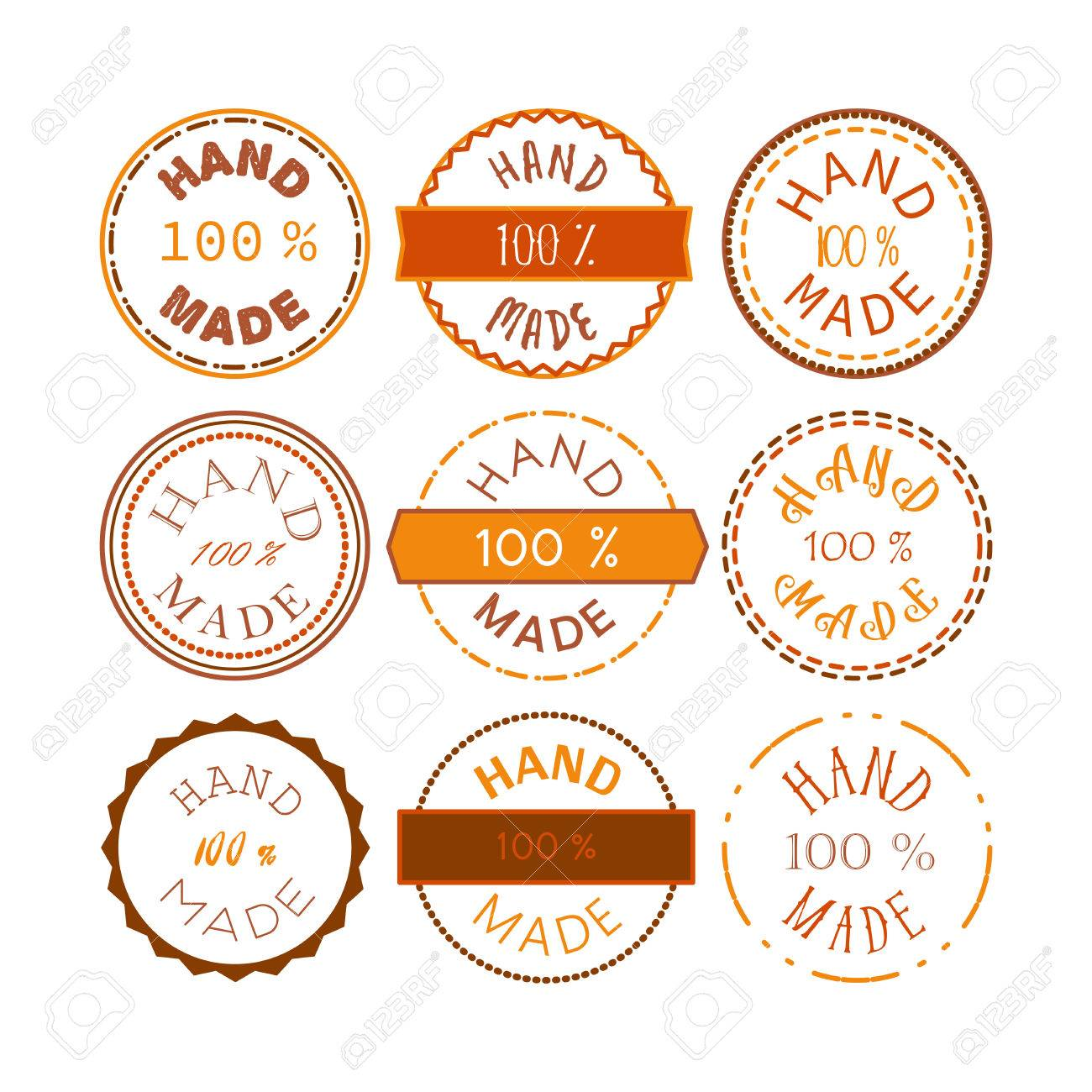Badge template with 100 handmade product symbol vintage sticker badge template with 100 handmade product symbol vintage sticker with text 100 hand made buycottarizona Image collections