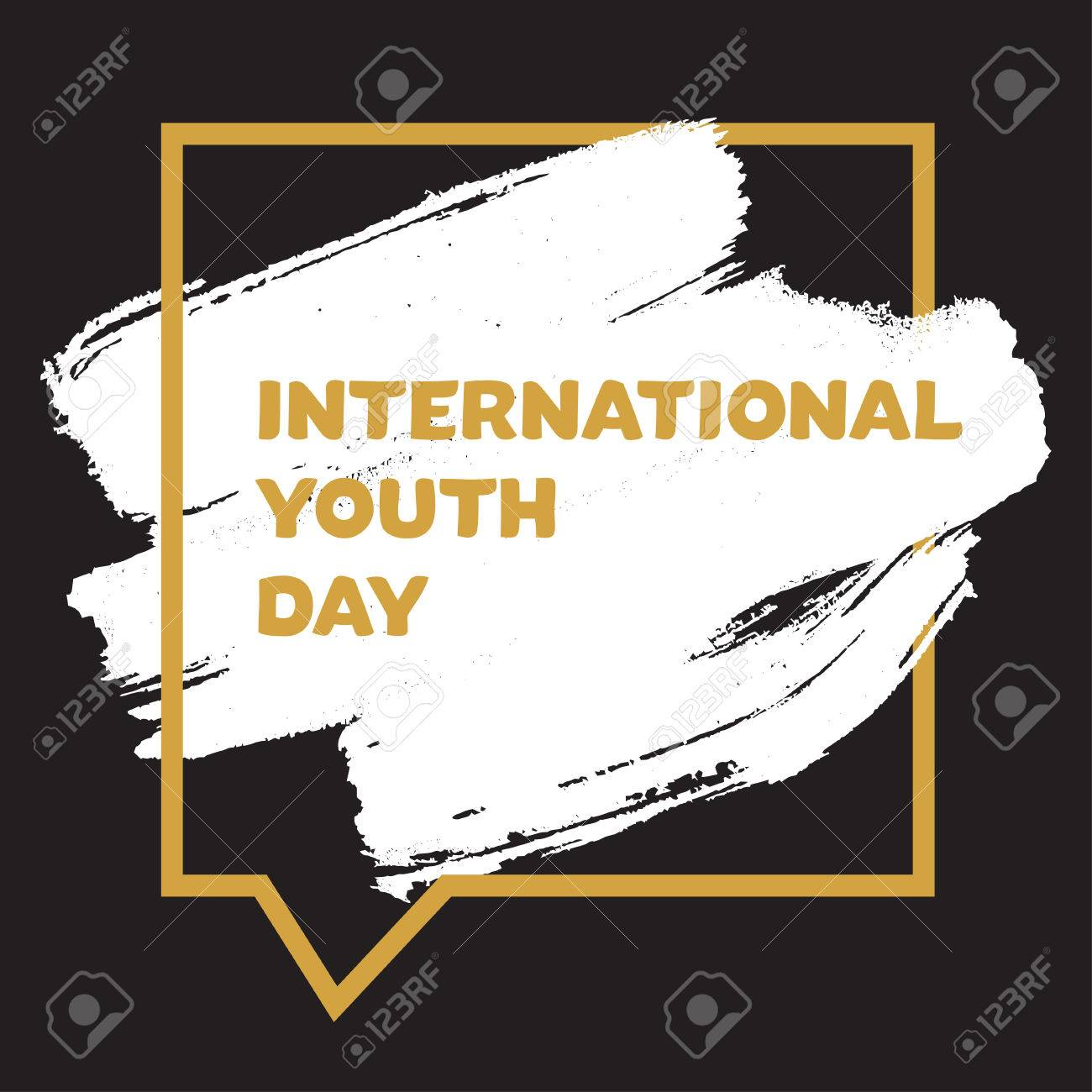 Vintage template card of international youth day for banner vector vintage template card of international youth day for banner brochure flyer greeting invitation cover design elements for poster vector stopboris Image collections