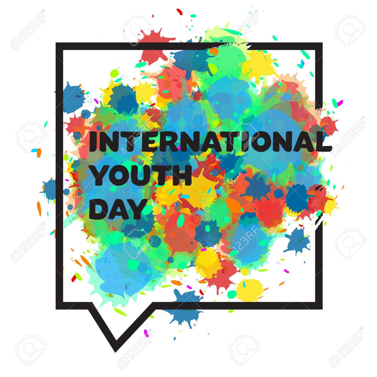 Vintage template card of international youth day for banner vector vintage template card of international youth day for banner brochure flyer greeting invitation cover design elements for poster vector stopboris Gallery