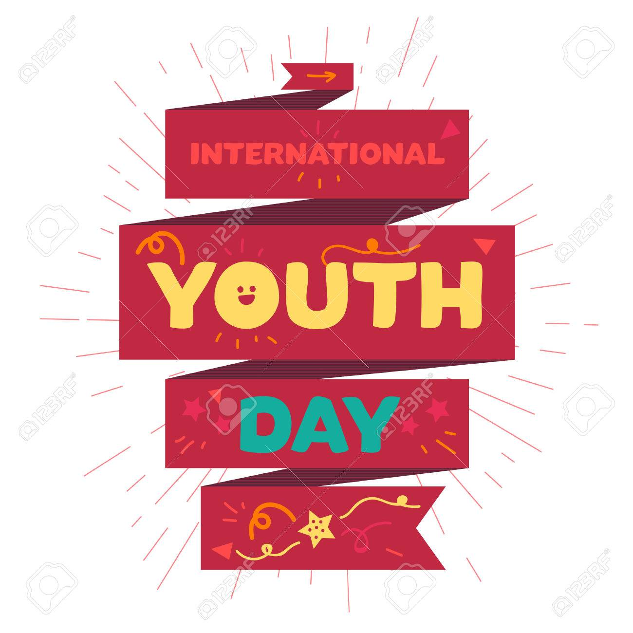 Vintage template card of international youth day for banner vintage template card of international youth day for banner brochure flyer greeting stopboris Gallery