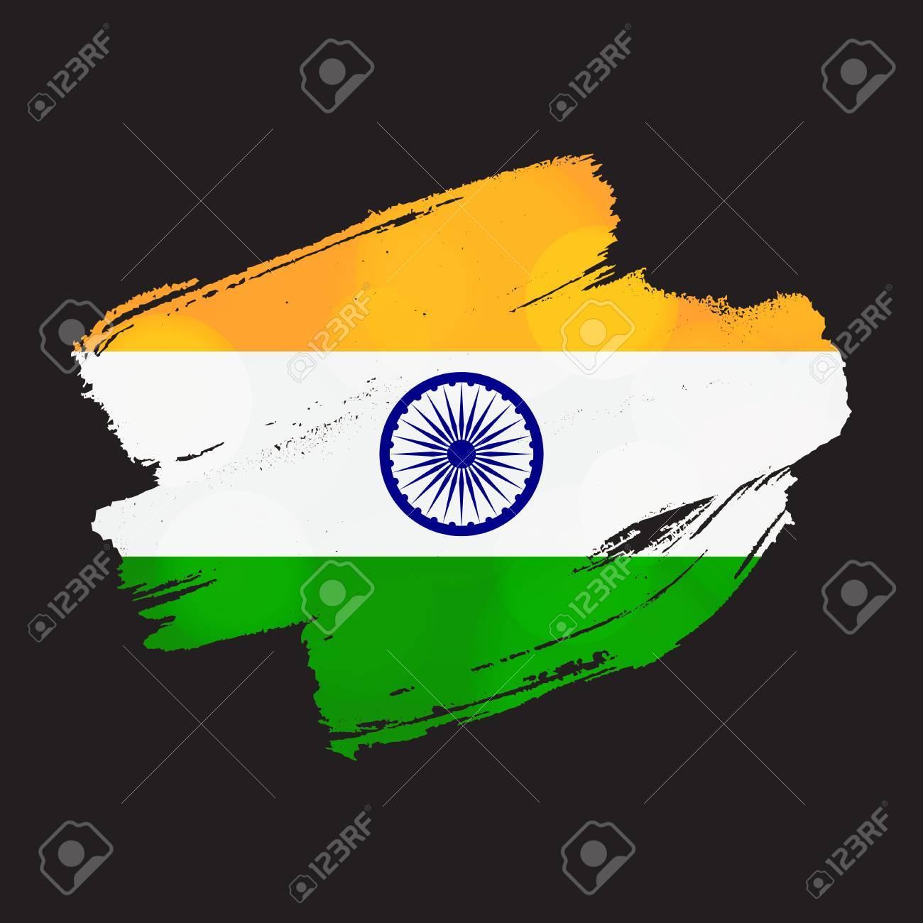 Feliz Día De La Independencia Plantilla De Felicitación De La India ...