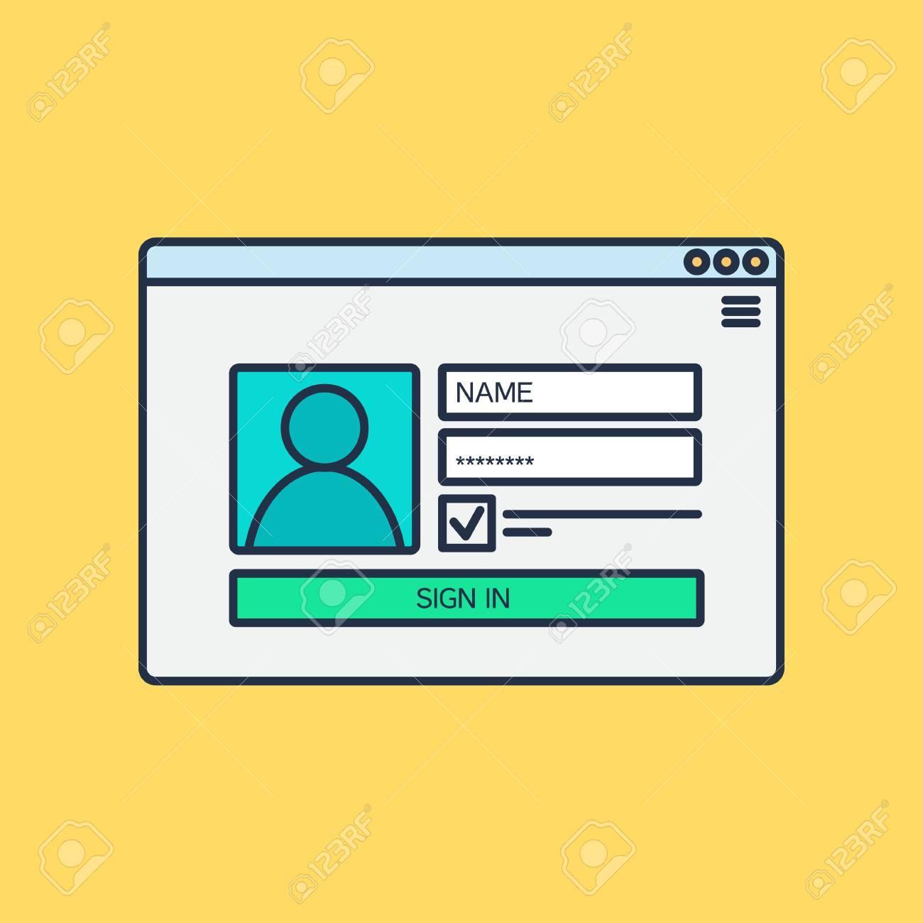 Web Template Web Elemente Für Website Form Login Rechnung Zu Tragen