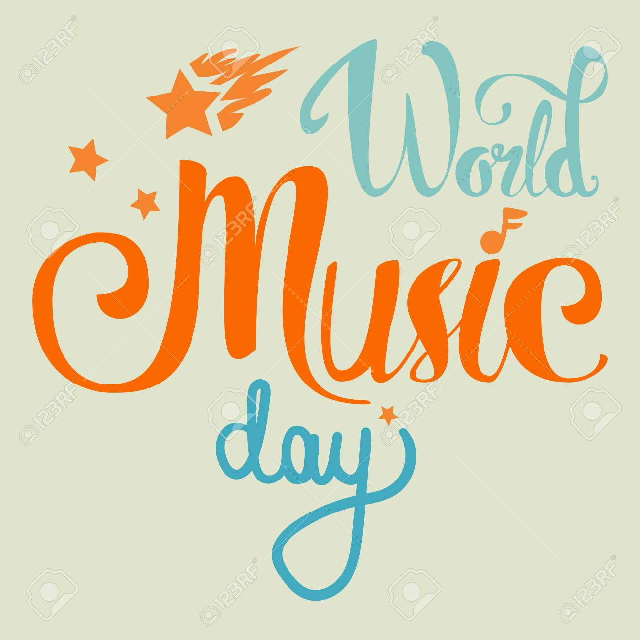 Creative World Music Day Poster