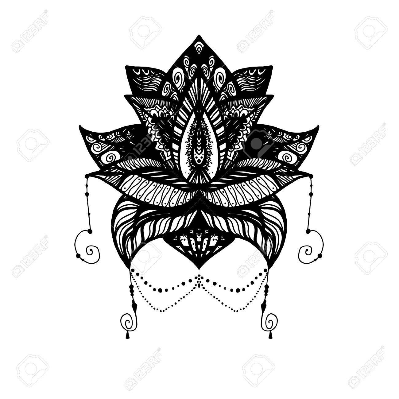 Flower lotus magic symbol for print tattoo coloring bookfabric flower lotus magic symbol for print tattoo coloring bookfabric t izmirmasajfo