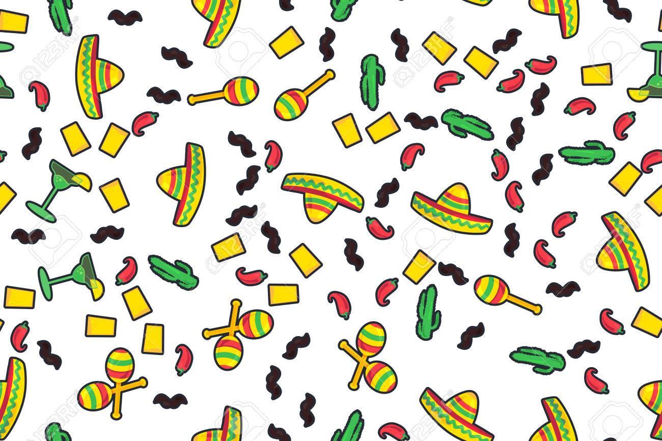 Cinco De Mayo Festival Seamless Pattern From Chili e03482f1b61