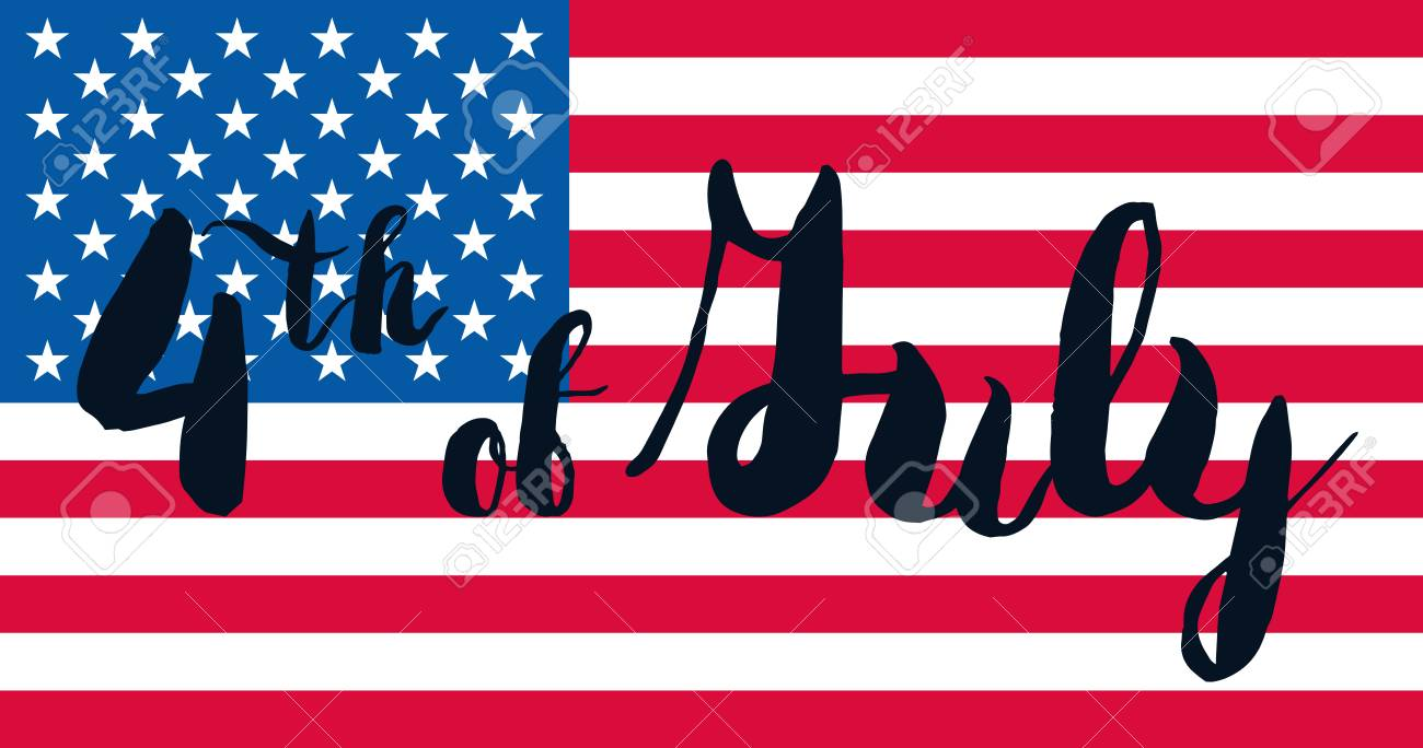 4th july usa independence day celebration banner national american 4th july usa independence day celebration banner national american greeting vector stock vector m4hsunfo