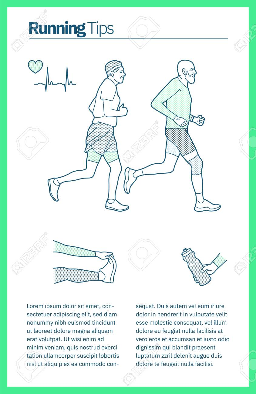 Vector illustration on the theme of running. - 142695202