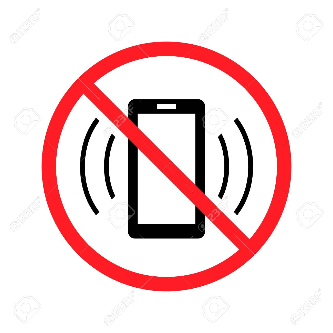 Vector no cell phone sign - 148200324