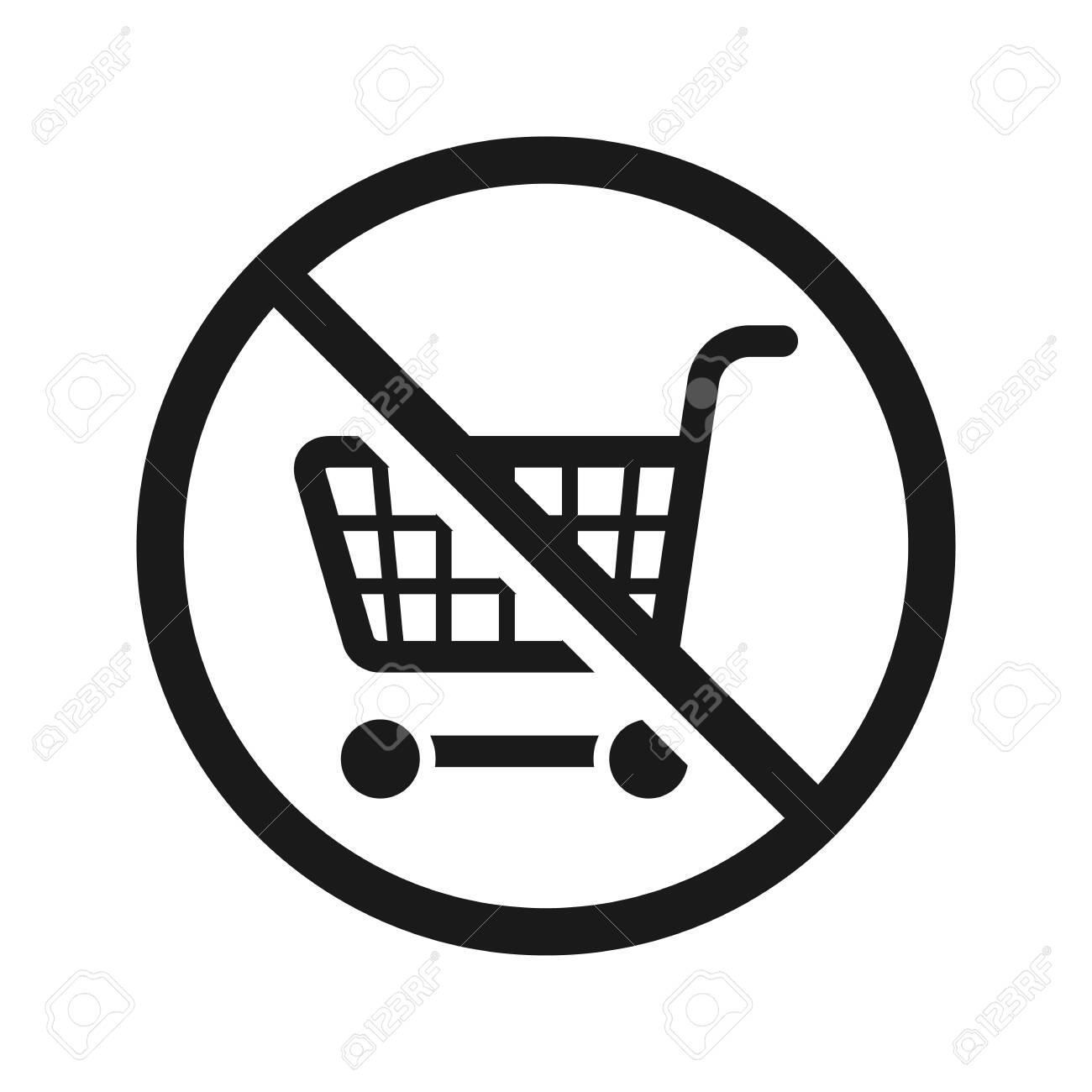 No shopping cart sign, vector illustration - 147601500