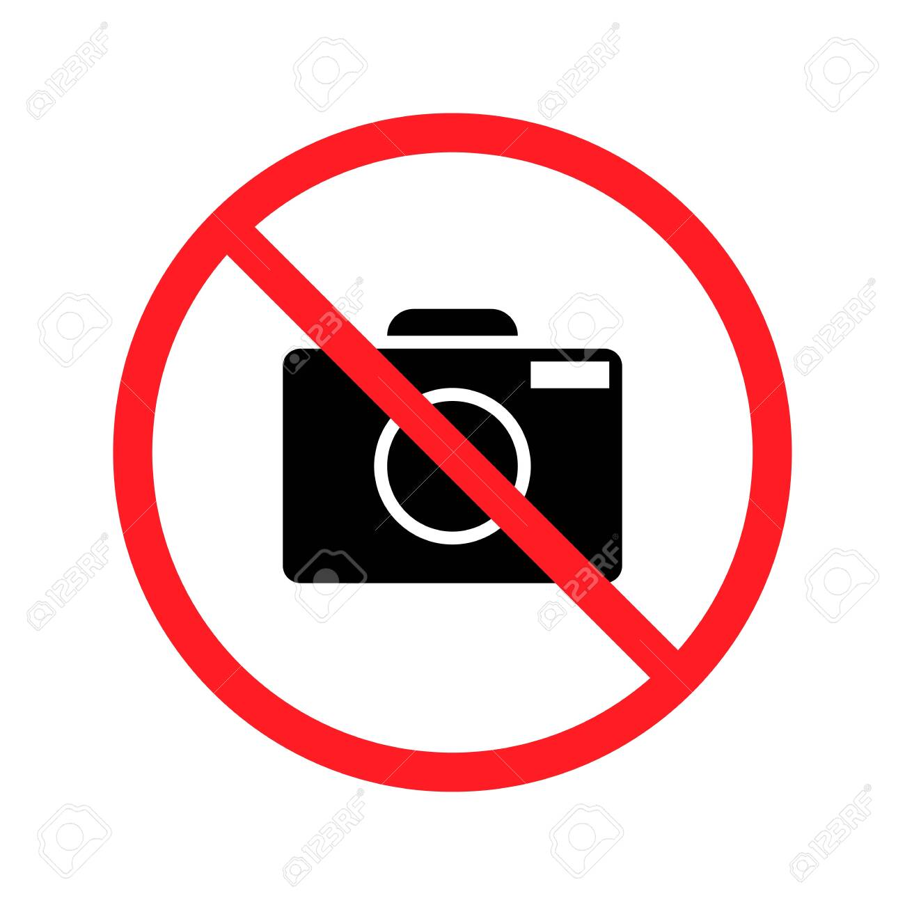No taking pictures. High quality prohibition sign isolated on white. - 147601868