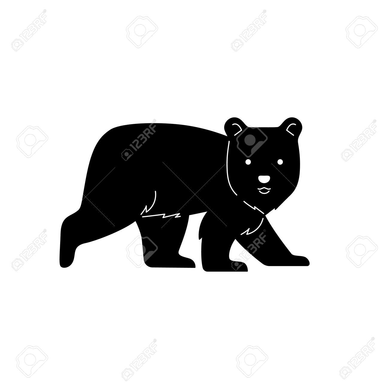 Bear graphic vector illustratipon for cutting mold. - 157901546