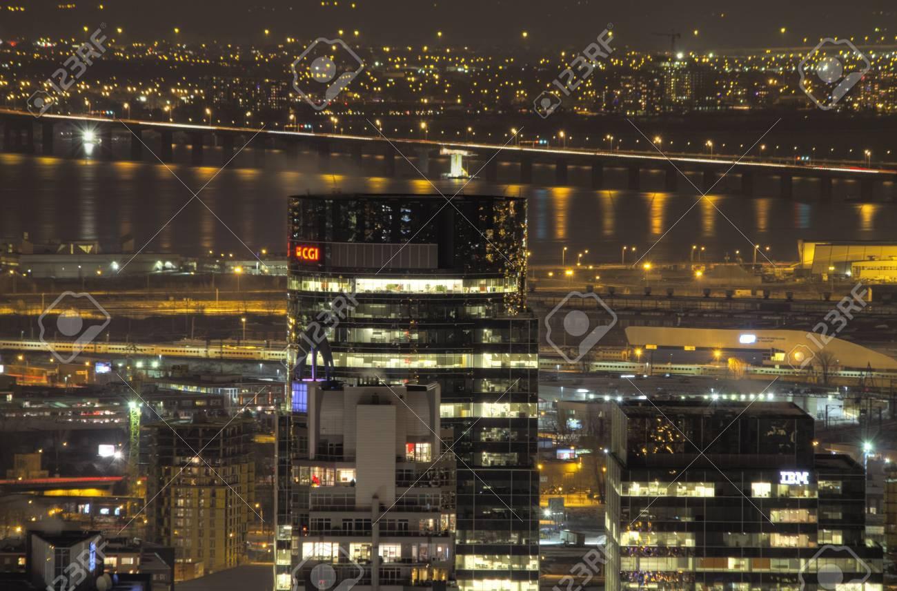 Canada montréal décembre nuit horizon de montréal avec