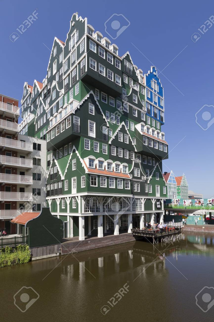 Modern Architecture Hotel modern architecture of hotel in city center of zaandam, consisting