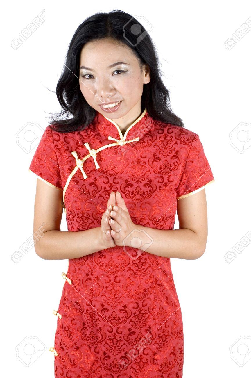 Schöne Chinesische Mädchen Senden Besten Wünsche Für Chinesische ...