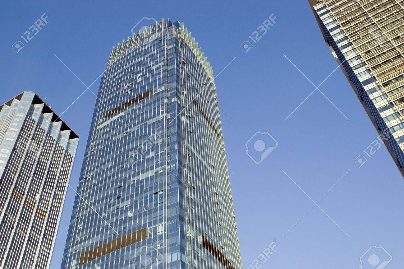 Skyscrapers in China, modern architecture in Shenzhen - business city in Guangdong province. Stock Photo - 4437377
