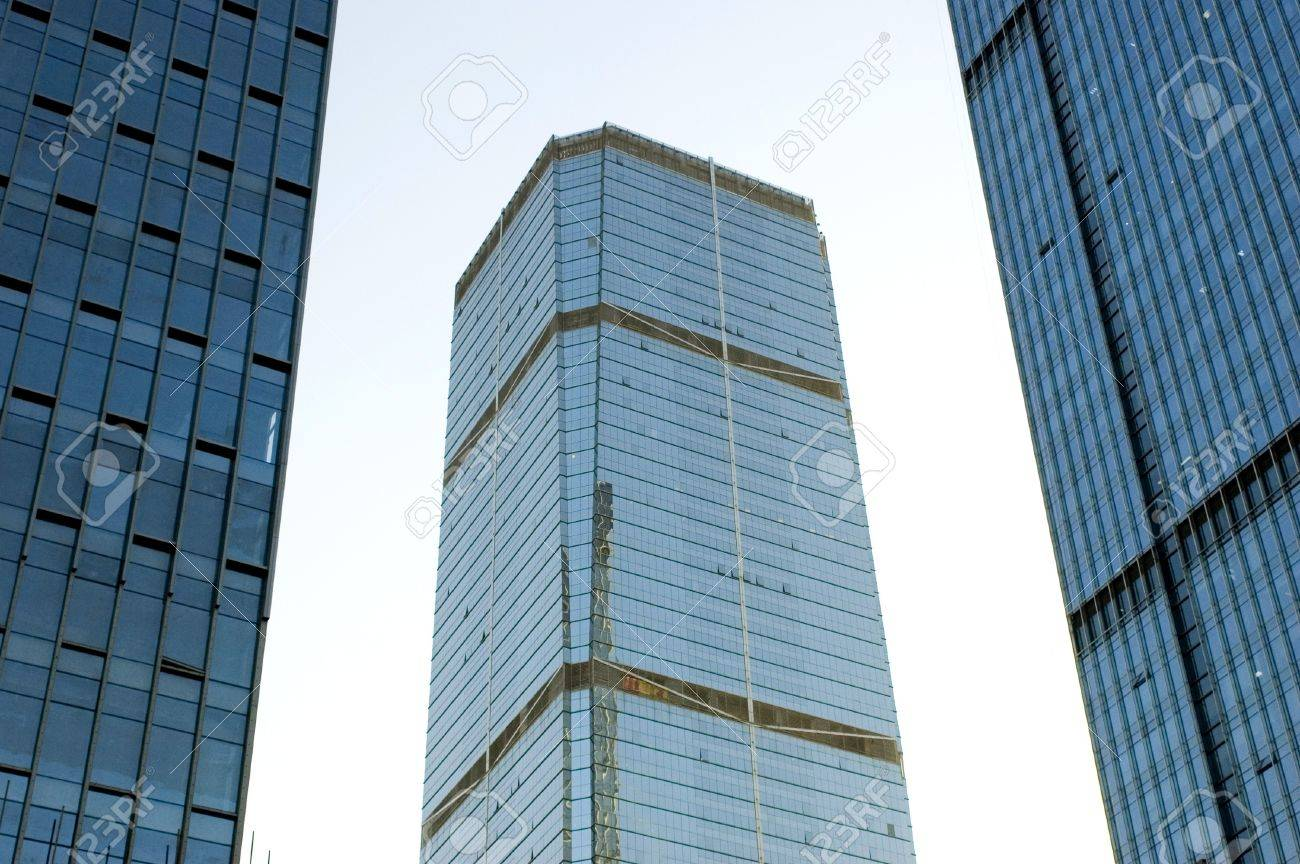 Skyscrapers in China, modern architecture in Shenzhen - business city in Guangdong province. Stock Photo - 4437373