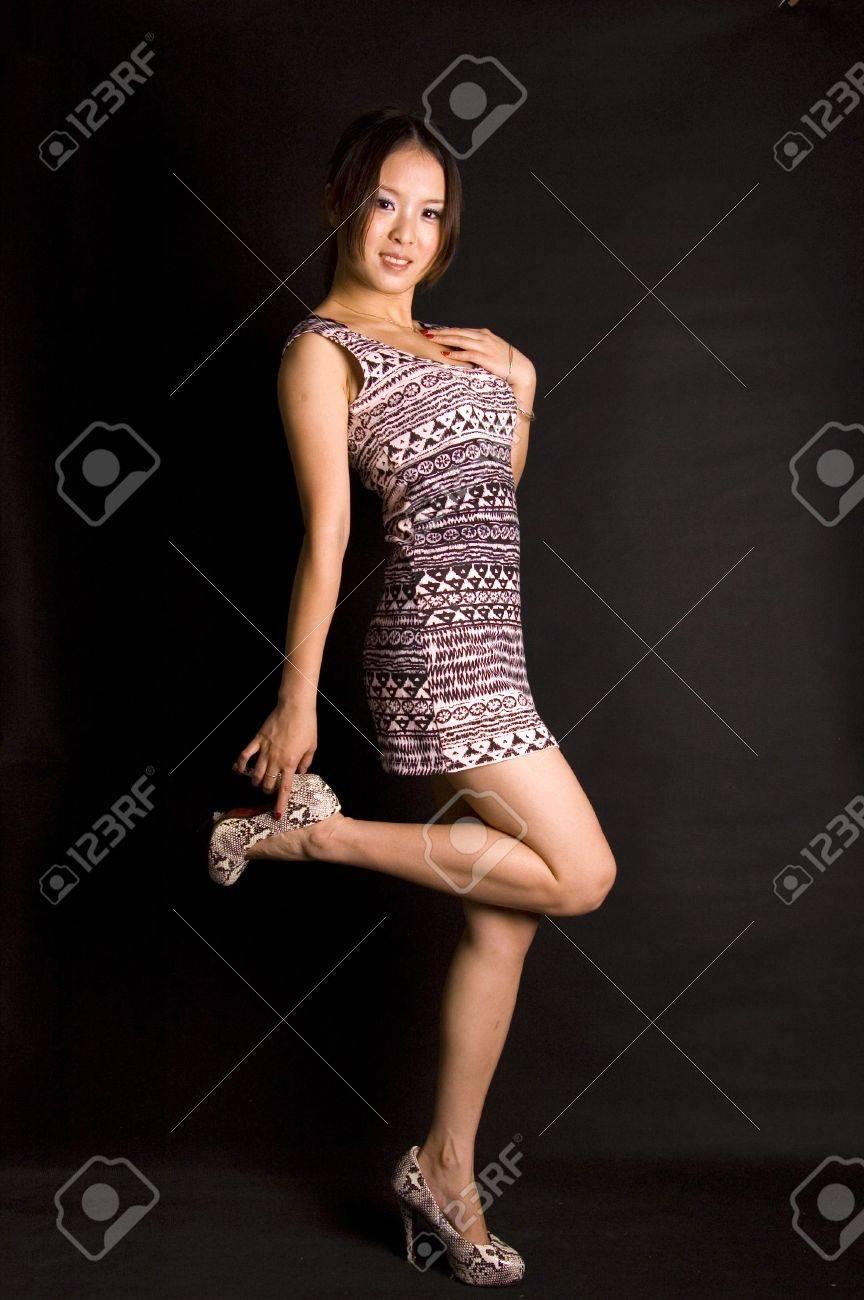 Asian picture short skirt