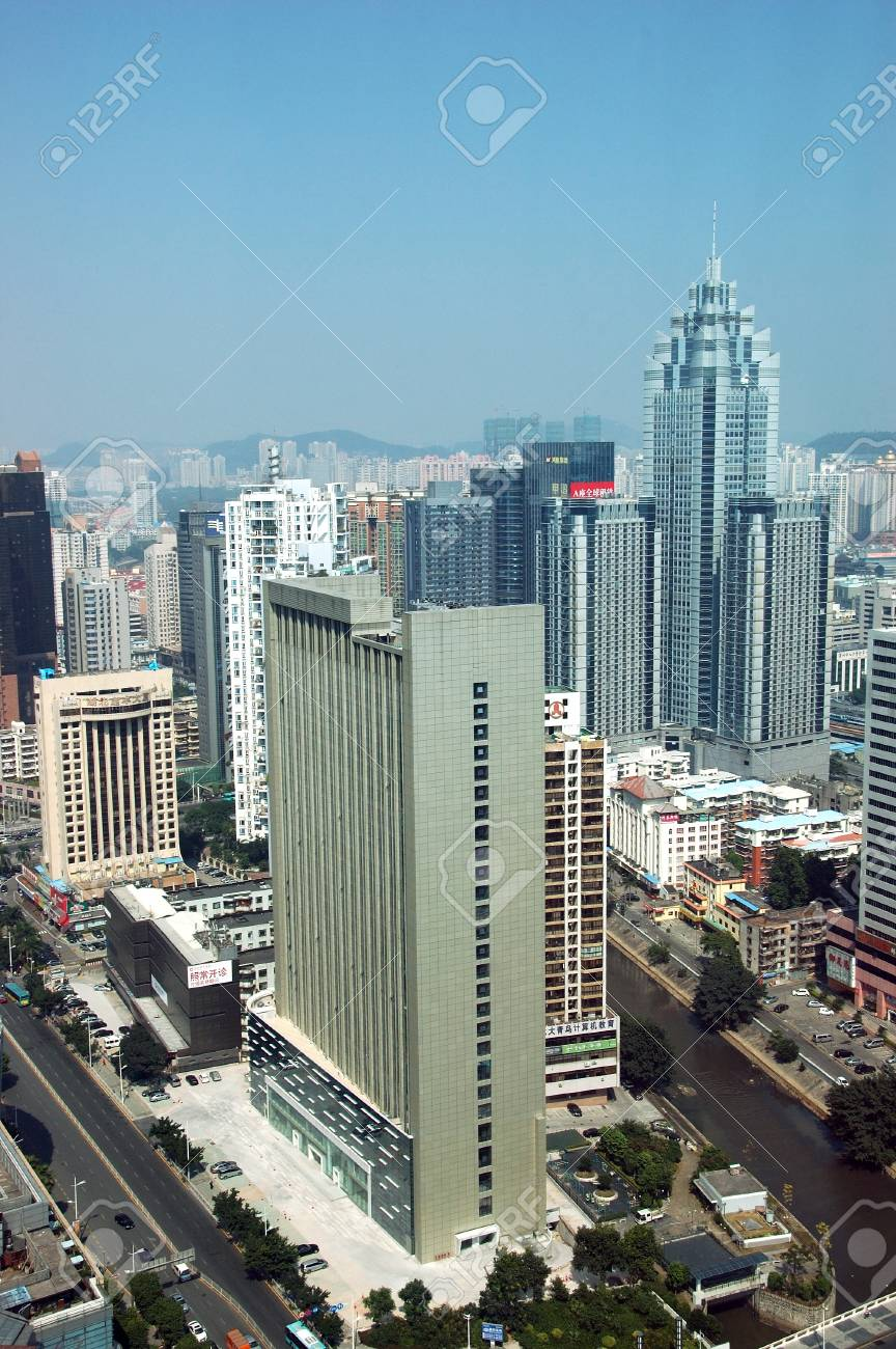SHENZHEN, CHINA - OCTOBER 31: General cityscape of Luohu district, Shenzhen on October 31, 2010. This year is 30th anniversary for Shenzhen special economic zone. Stock Photo - 9350505