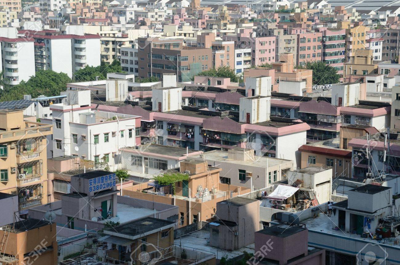 SHENZHEN, CHINA - 16. SEPTEMBER: Modern Stadt Shenzhen, Futian ...