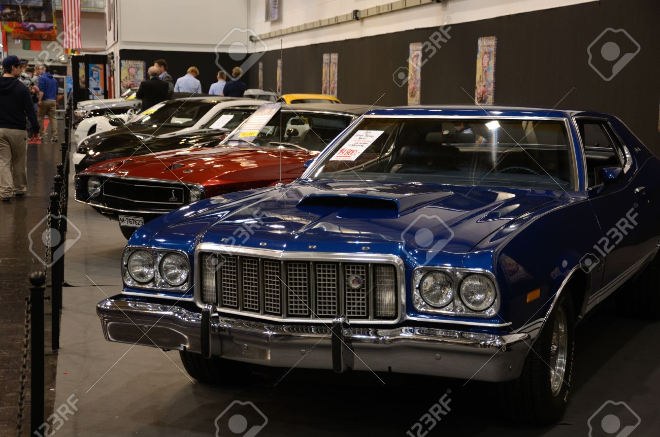 Essen Germany December 8 Ford Gran Torino Sport And Other Stock Photo Picture And Royalty Free Image Image 24375565