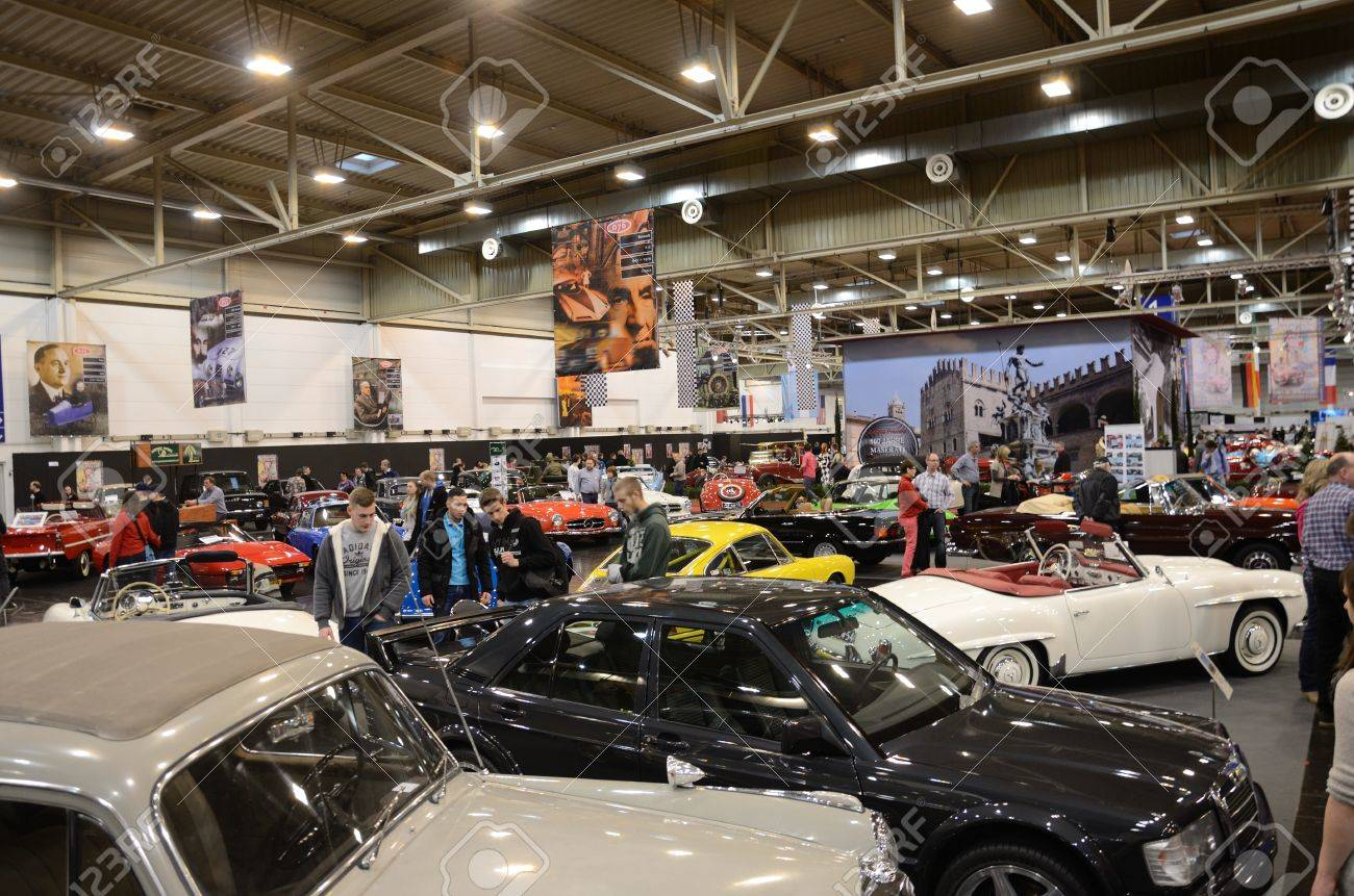 ESSEN, GERMANY - December 8 Visitors Admire Classic Cars From ...