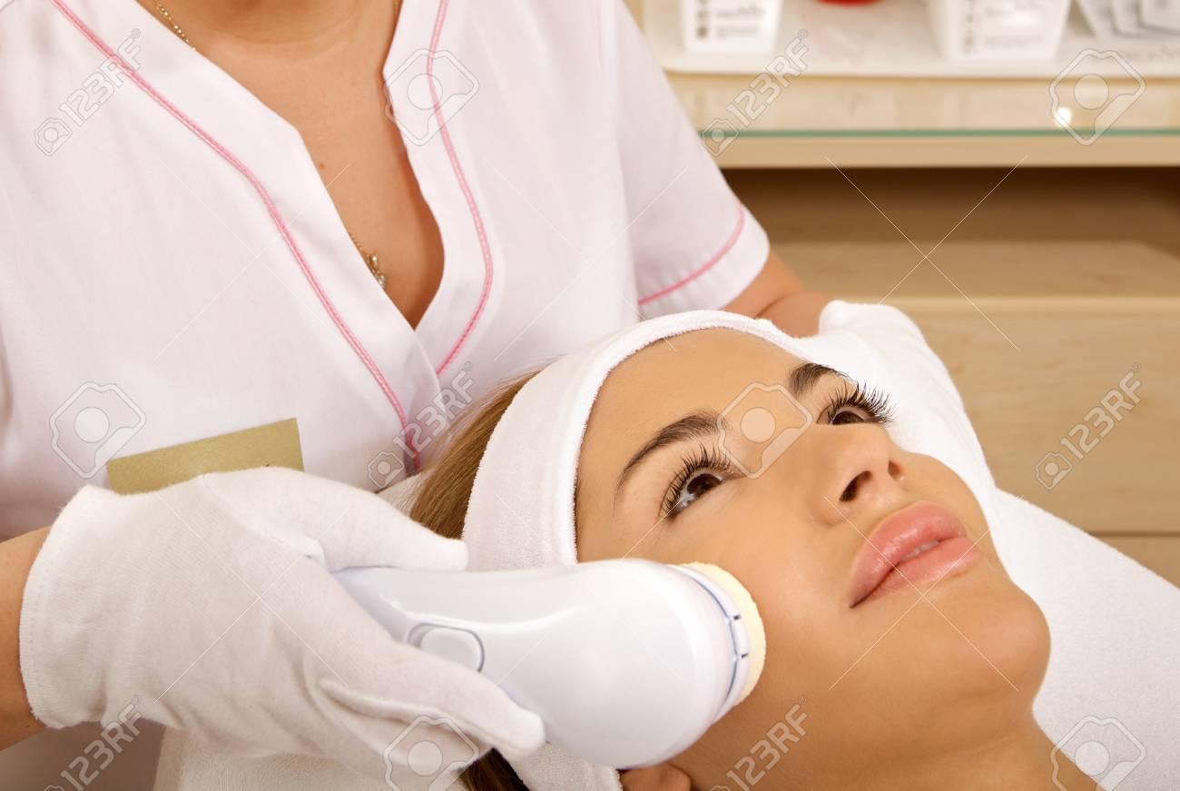 Laser hair removal in professional studio. Stock Photo - 9773146