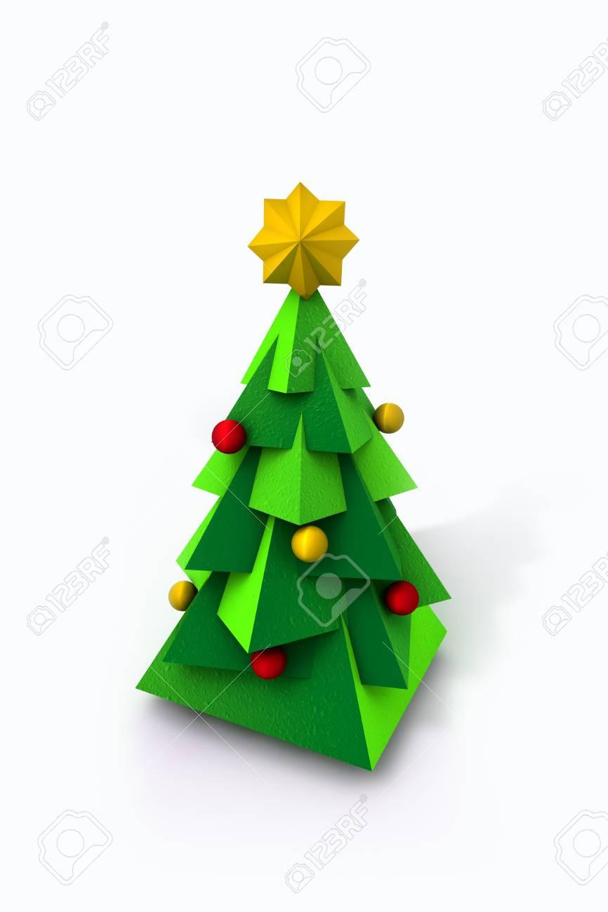 Contemporary Christmas Tree.3d Contemporary Christmas Tree Rendering