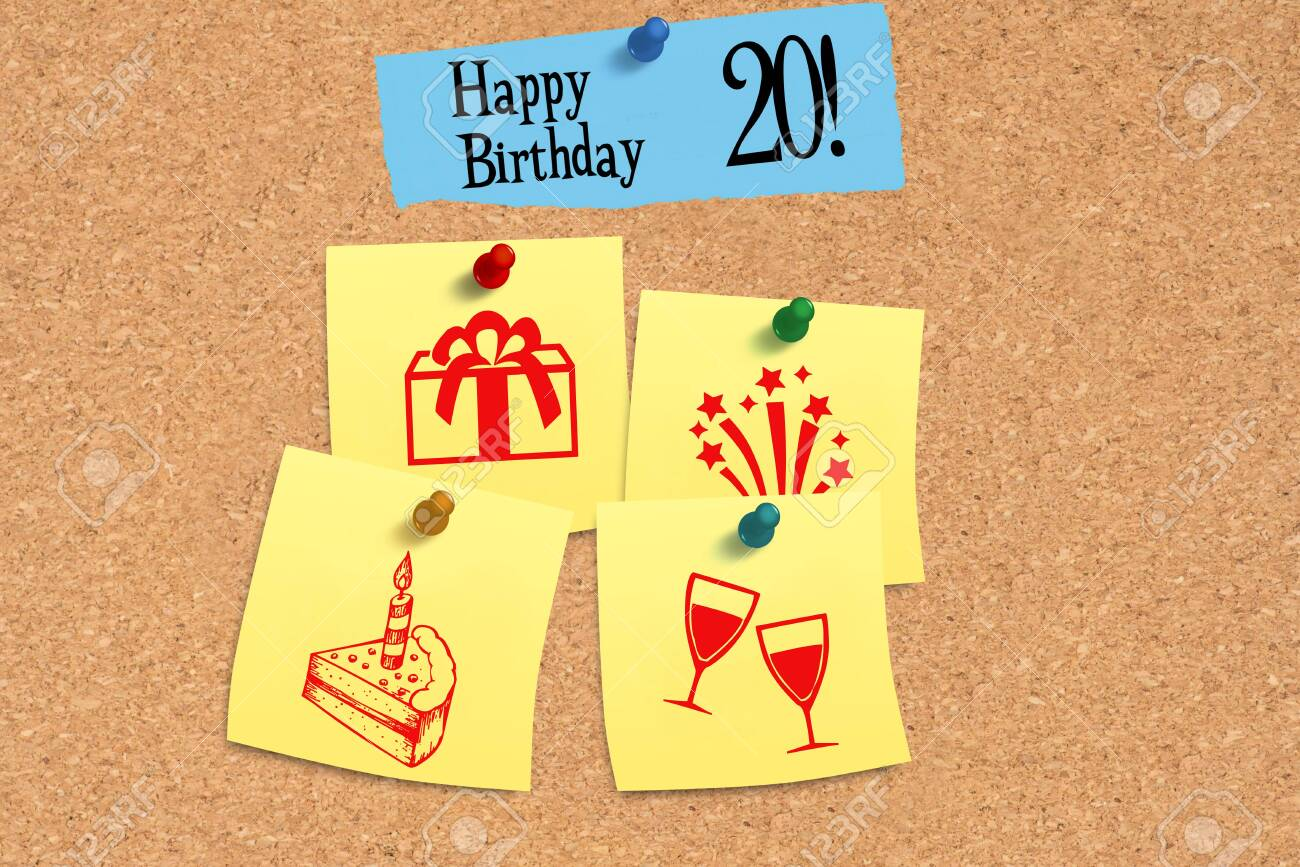 Message board and congratulations on your 20th birthday - 141473357