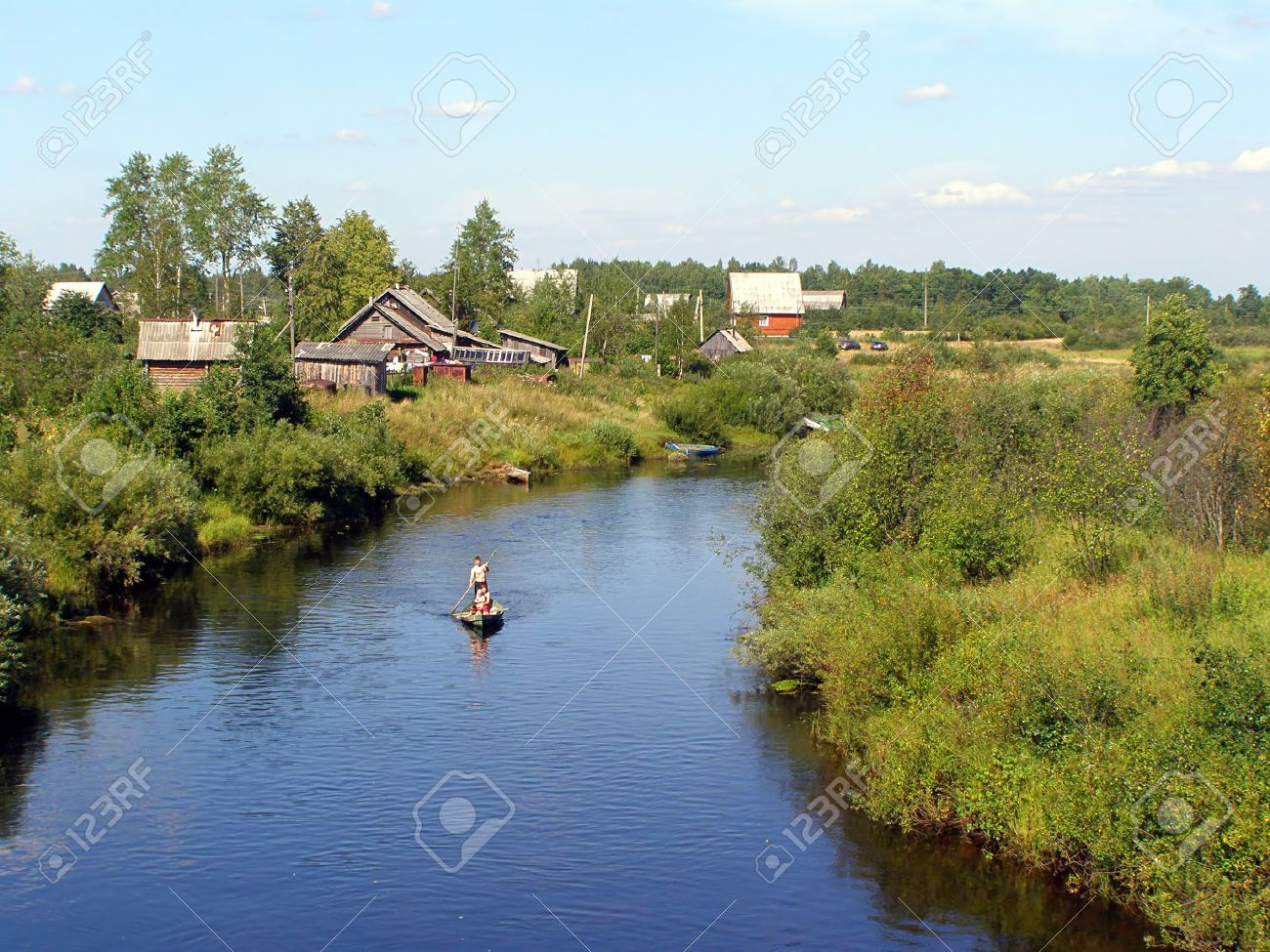 riverside village Stock Photo - 5962621