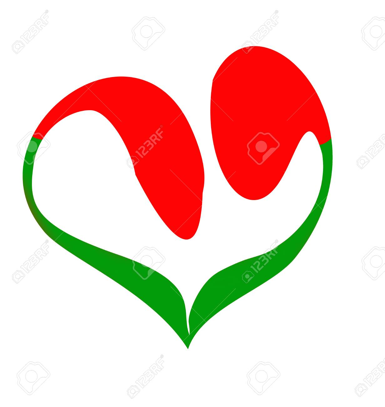 silhouette of the tulip in form heart Stock Vector - 7038234