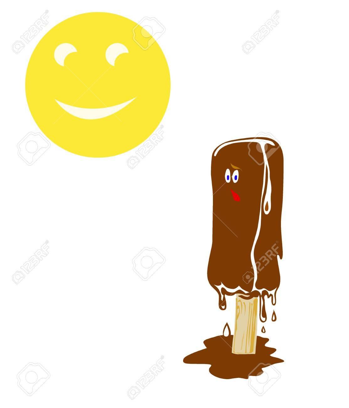 illustration ice cream on white background Stock Vector - 7735684