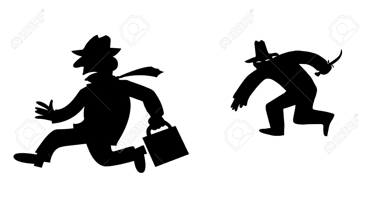 silhouette bandit on white background Stock Vector - 8768682