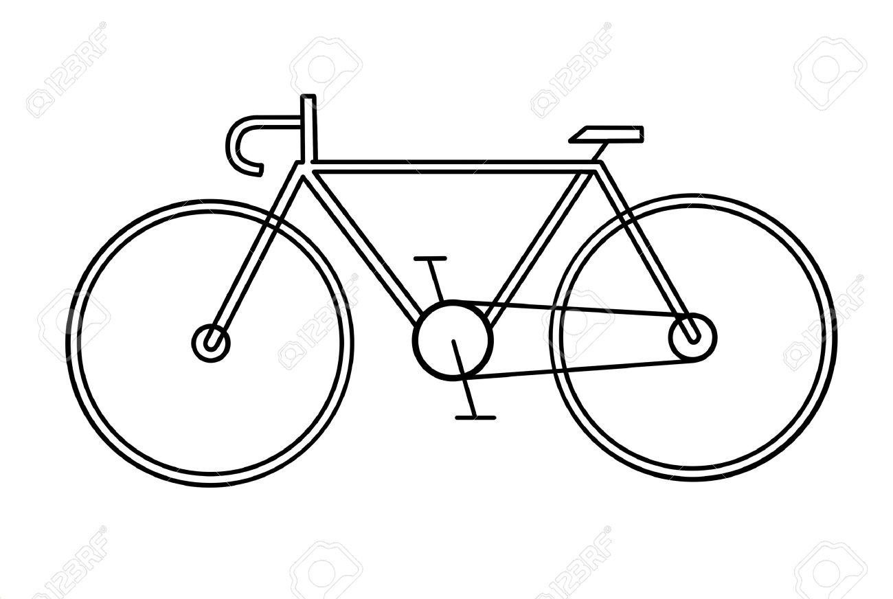 Disegno Della Bicicletta Su Sfondo Bianco