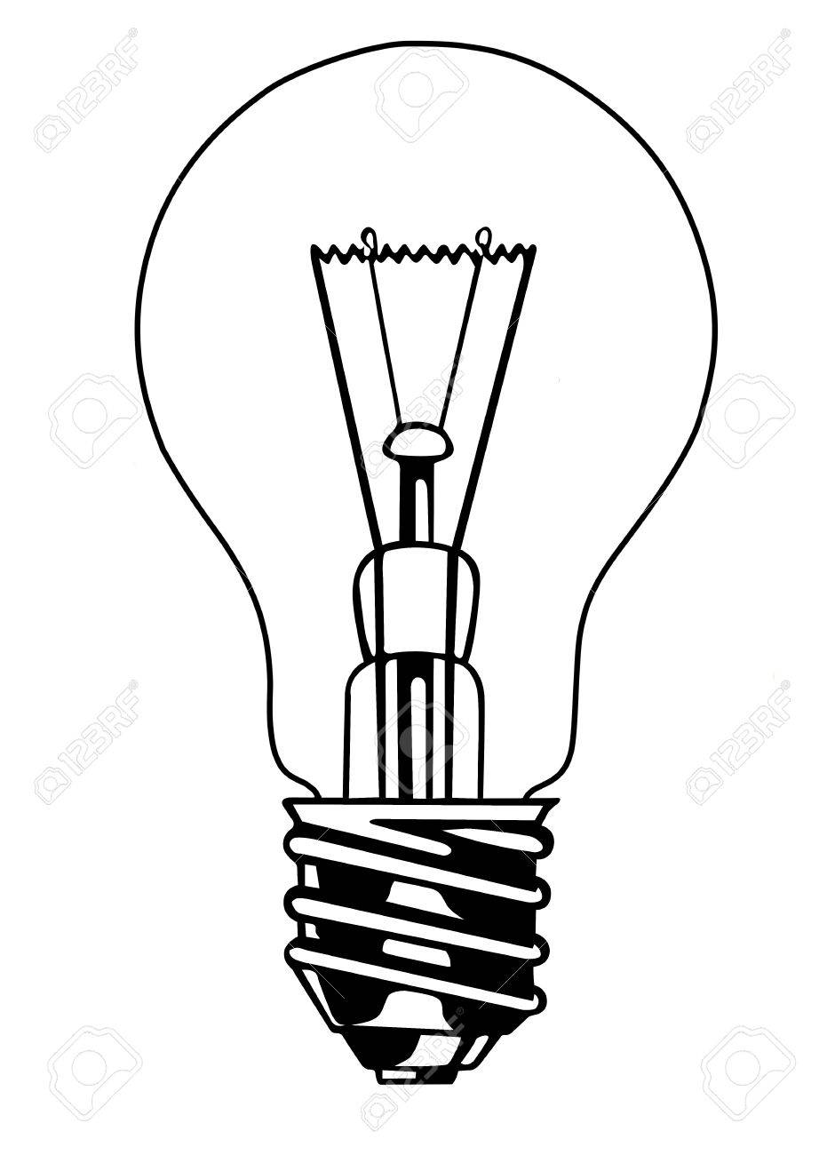 light bulb on white background royalty free cliparts vectors and stock illustration image 9120979 light bulb on white background