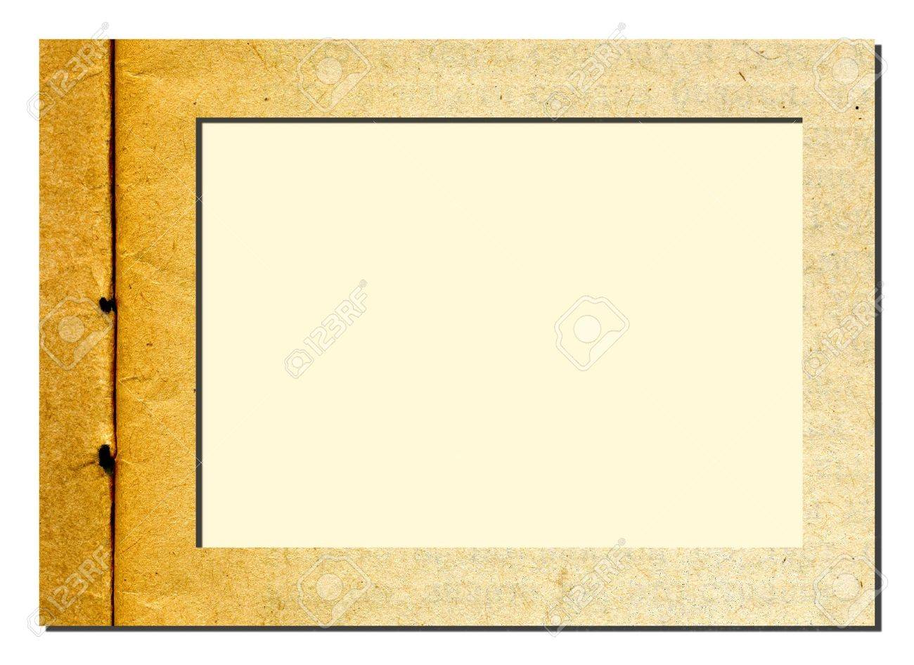 vector decorative frame from old paper