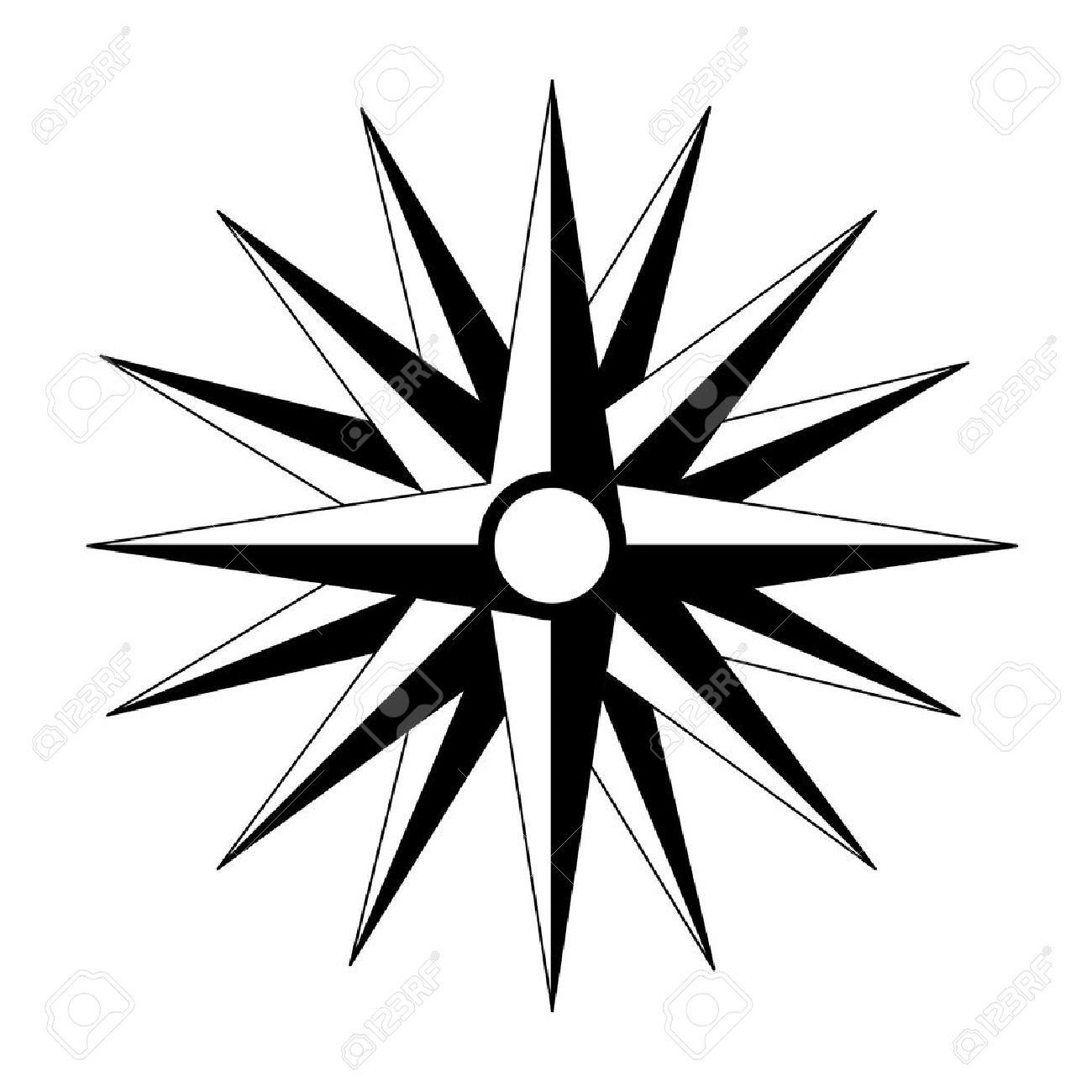 Compass Pointing East Tattoo vector cardinal points  tattoo